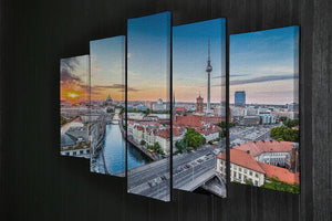 Aerial view of Berlin skyline 5 Split Panel Canvas  - Canvas Art Rocks - 2