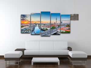 Aerial view of Berlin skyline 5 Split Panel Canvas  - Canvas Art Rocks - 3