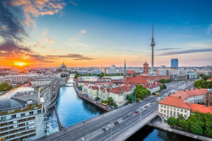 Aerial view of Berlin skyline Wall Mural Wallpaper - Canvas Art Rocks - 1