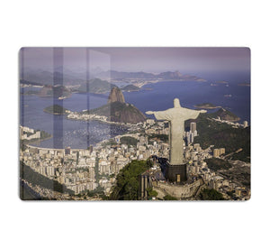 Aerial view of Christ and Botafogo Bay HD Metal Print