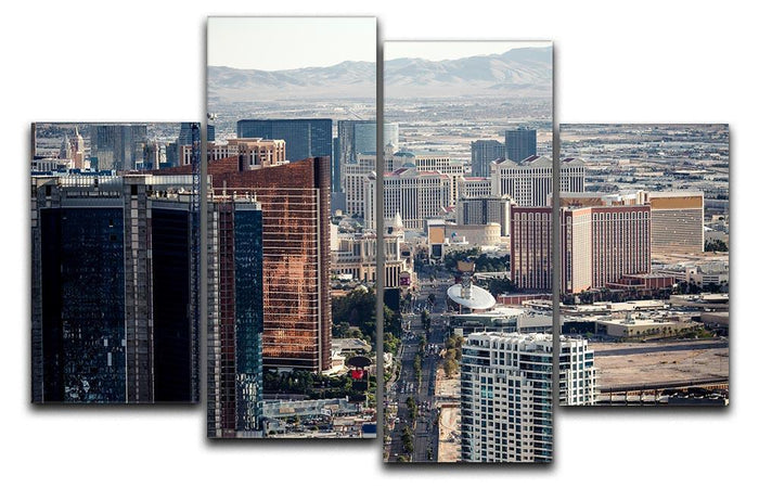 Aerial view of Las Vegas 4 Split Panel Canvas