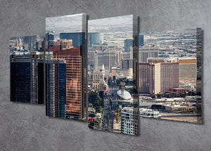 Aerial view of Las Vegas 4 Split Panel Canvas  - Canvas Art Rocks - 2