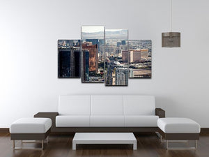 Aerial view of Las Vegas 4 Split Panel Canvas  - Canvas Art Rocks - 3