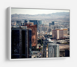 Aerial view of Las Vegas HD Metal Print