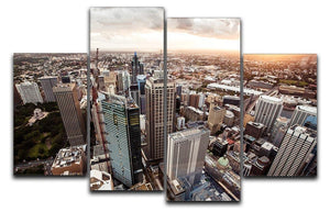 Aerial view of downtown Sydney at sunset 4 Split Panel Canvas  - Canvas Art Rocks - 1