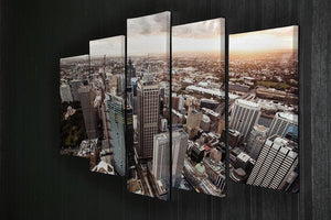 Aerial view of downtown Sydney at sunset 5 Split Panel Canvas  - Canvas Art Rocks - 2