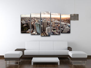 Aerial view of downtown Sydney at sunset 5 Split Panel Canvas  - Canvas Art Rocks - 3