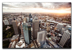 Aerial view of downtown Sydney at sunset Canvas Print or Poster  - Canvas Art Rocks - 1