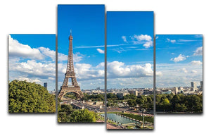 Aerial view of the Eiffel Tower 4 Split Panel Canvas  - Canvas Art Rocks - 1