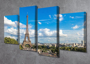 Aerial view of the Eiffel Tower 4 Split Panel Canvas  - Canvas Art Rocks - 2