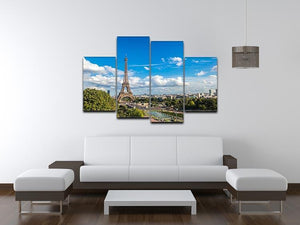 Aerial view of the Eiffel Tower 4 Split Panel Canvas  - Canvas Art Rocks - 3