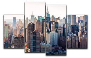 Aerial view of the New York City 4 Split Panel Canvas  - Canvas Art Rocks - 1