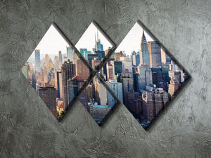 Aerial view of the New York City 4 Square Multi Panel Canvas  - Canvas Art Rocks - 2