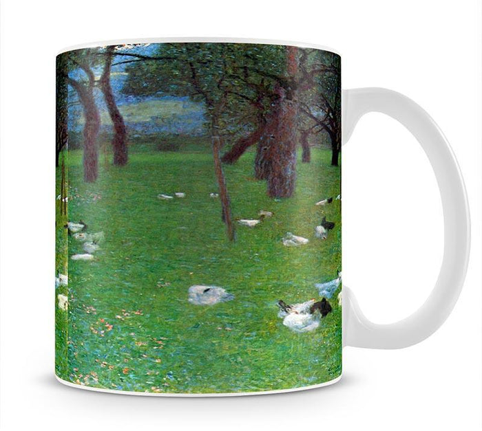After the rain garden with chickens in St. Agatha by Klimt Mug