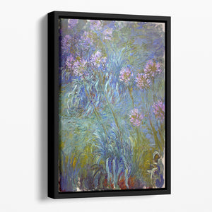 Agapanthus by Monet Floating Framed Canvas