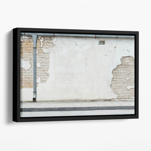 Aged street wall background Floating Framed Canvas