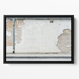 Aged street wall background Floating Framed Canvas - Canvas Art Rocks - 2