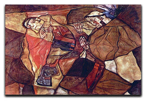 Agony The Death Struggle by Egon Schiele Canvas Print or Poster - Canvas Art Rocks - 1