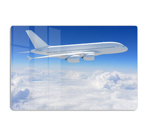 Airplane in the sky HD Metal Print