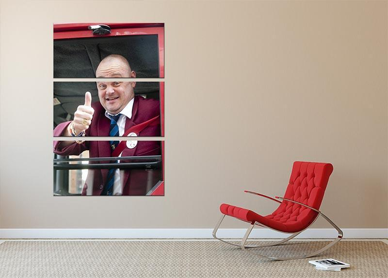 Al Murray The Pub Landlord 3 Split Panel Canvas Print - Canvas Art Rocks - 2