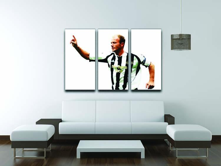 Alan Shearer Newcastle Goal Hero 3 Split Panel Canvas Print - Canvas Art Rocks - 3
