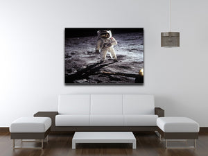 Aldrin Apollo 11 Print - Canvas Art Rocks - 4
