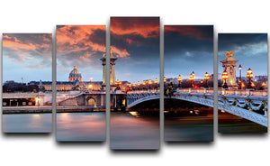 Alexandre 3 Bridge 5 Split Panel Canvas  - Canvas Art Rocks - 1