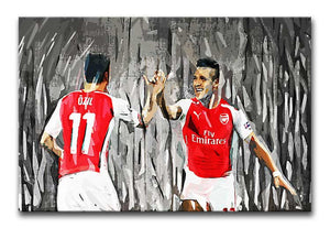 Alexis Sanchez and Mesut Œ_Œ'¬¡__zil Print - Canvas Art Rocks - 1