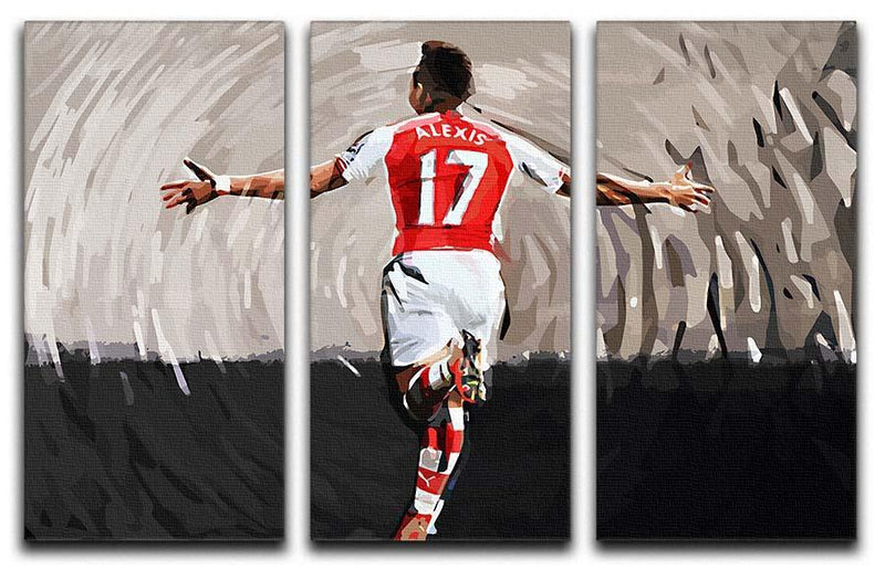 Alexis Sanchez 3 Split Panel Canvas Print - Canvas Art Rocks - 1