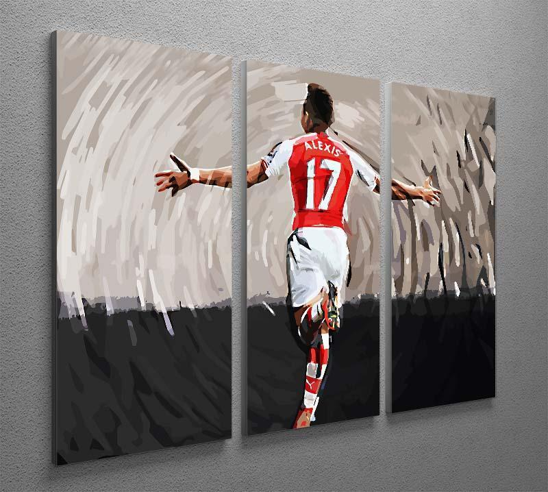 Alexis Sanchez 3 Split Panel Canvas Print - Canvas Art Rocks - 2