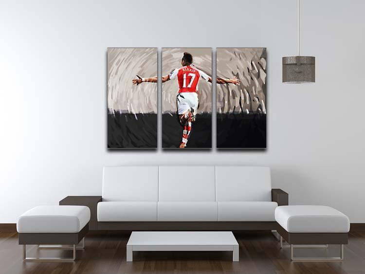 Alexis Sanchez 3 Split Panel Canvas Print - Canvas Art Rocks - 3