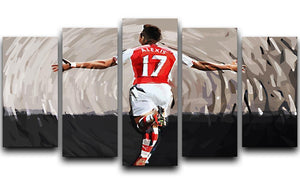 Alexis Sanchez 5 Split Panel Canvas  - Canvas Art Rocks - 1
