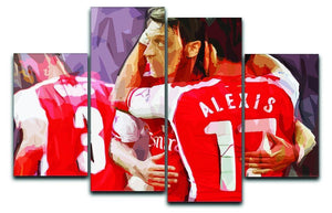 Alexis Sanchez and Mesut Ozil 4 Split Panel Canvas  - Canvas Art Rocks - 1