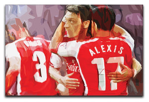 Alexis Sanchez and Mesut Ozil Print - Canvas Art Rocks - 1