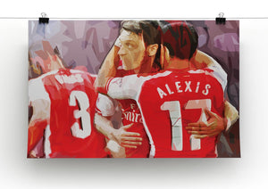 Alexis Sanchez and Mesut Ozil Print - Canvas Art Rocks - 2