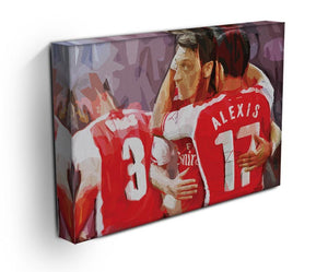 Alexis Sanchez and Mesut Ozil Print - Canvas Art Rocks - 3