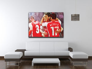 Alexis Sanchez and Mesut Ozil Print - Canvas Art Rocks - 4