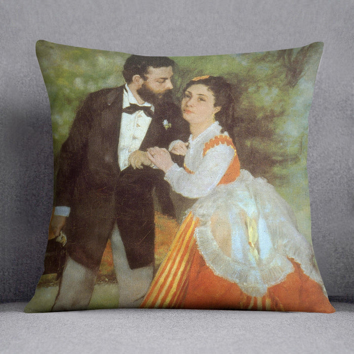 Alfred Sisley by Renoir Throw Pillow