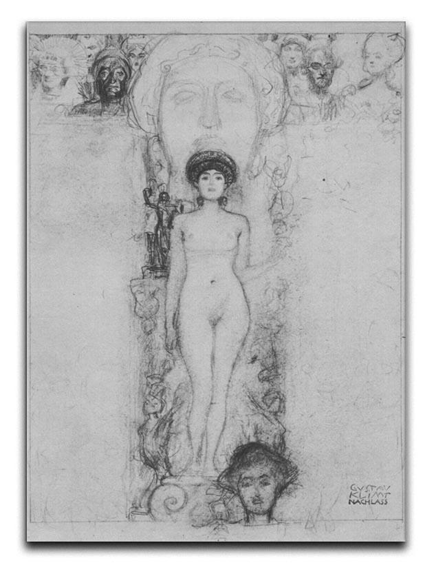 Allegory of Sculpture by Klimt Canvas Print or Poster  - Canvas Art Rocks - 1
