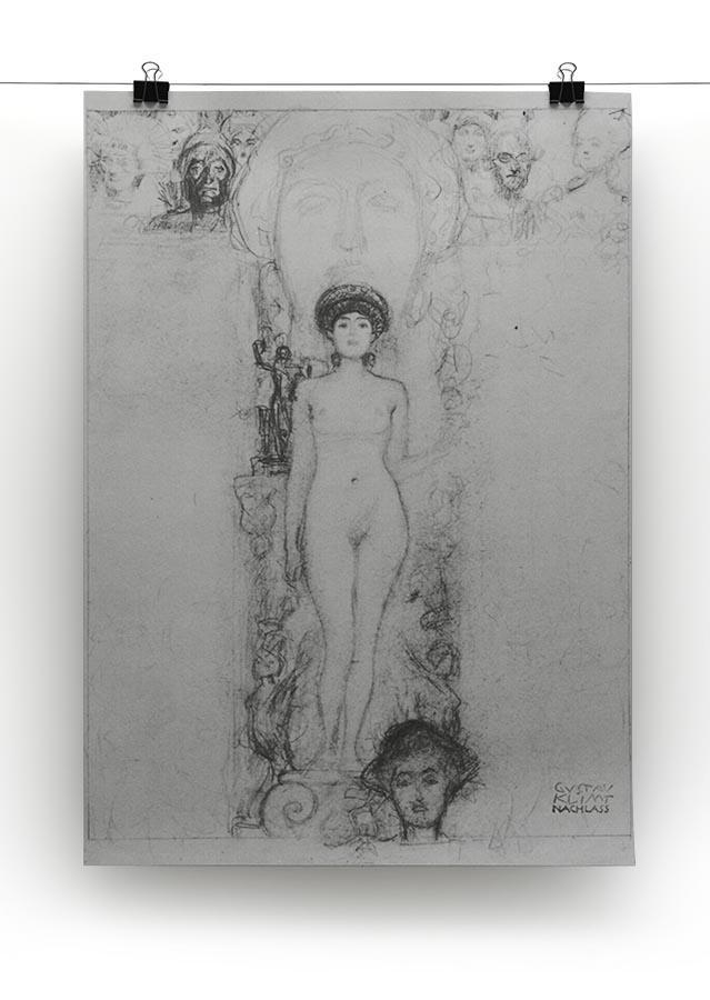 Allegory of Sculpture by Klimt Canvas Print or Poster - Canvas Art Rocks - 2