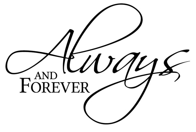 Always And Forever Wall Decal - Canvas Art Rocks - 2