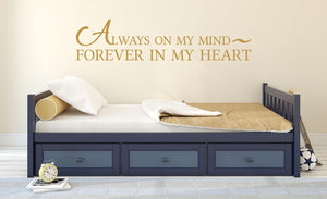 Always On My Mind Wall Decal - Canvas Art Rocks - 1