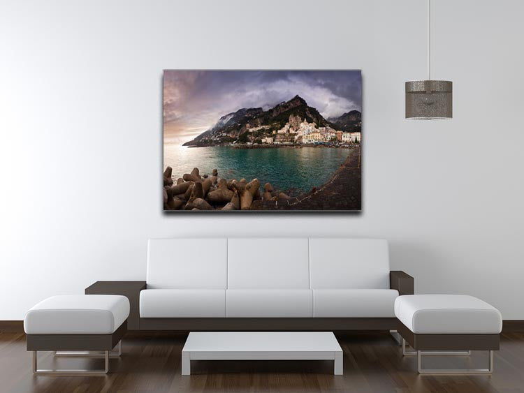 Amalfi Print - Canvas Art Rocks - 4
