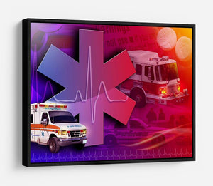 Ambulance Firetruck and Police car HD Metal Print