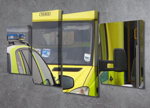 Ambulance and responder vehicles 4 Split Panel Canvas  - Canvas Art Rocks - 2