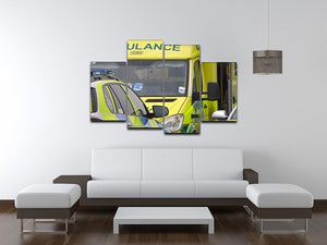 Ambulance and responder vehicles 4 Split Panel Canvas  - Canvas Art Rocks - 3