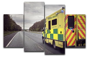 Ambulance responding to an emergency 4 Split Panel Canvas  - Canvas Art Rocks - 1