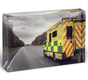 Ambulance responding to an emergency Acrylic Block - Canvas Art Rocks - 1
