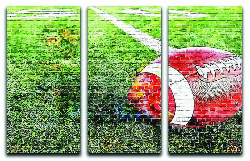 American Football 3 Split Panel Canvas Print - Canvas Art Rocks - 1