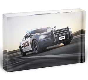 American Police Car Acrylic Block - Canvas Art Rocks - 1